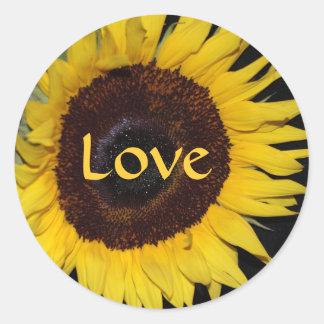 Sunflower Face Love Sticker