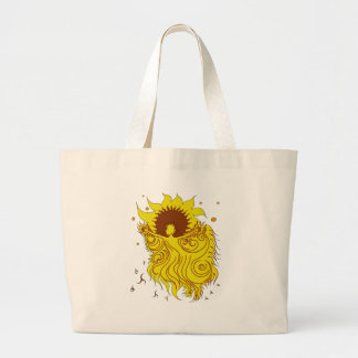 Sunflower Fairy Large Tote Bag
