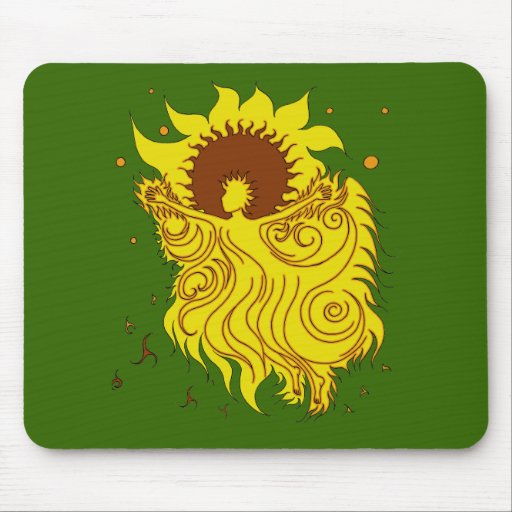 Sunflower Fairy Mouse Pad