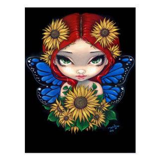 """Sunflower Fairy"" Postcard"