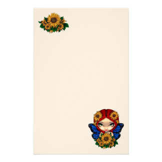 Sunflower Fairy Stationery