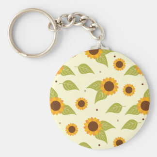 Sunflower Fall Autumn Pattern Keychain