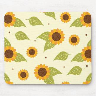 Sunflower Fall Autumn Pattern Mouse Pads