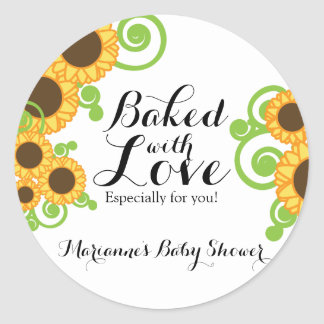 sunflower fall BABY SHOWER party favor label