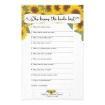 Sunflower Fall Bridal Shower Games,  3632 Flyer