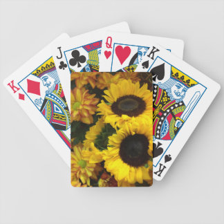 Sunflower Fall Flowers Bicycle Playing Cards
