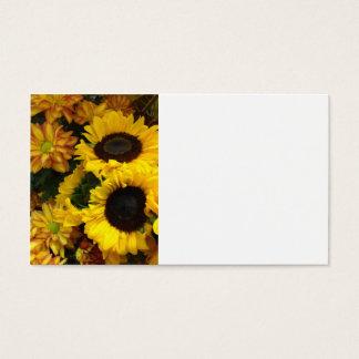 Sunflower Fall Flowers Business Card