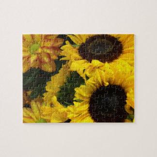 Sunflower Fall Flowers Jigsaw Puzzle