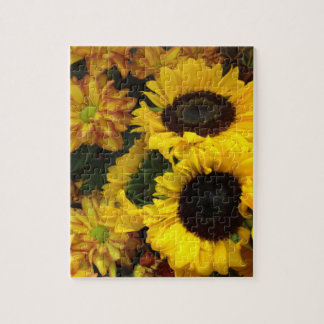 Sunflower Fall Flowers Jigsaw Puzzle