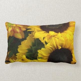 Sunflower Fall Flowers Lumbar Pillow