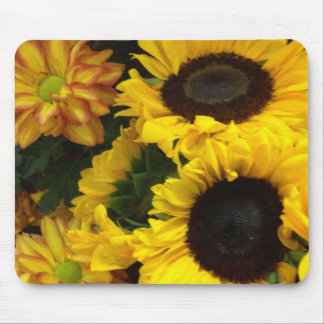 Sunflower Fall Flowers Mouse Pad