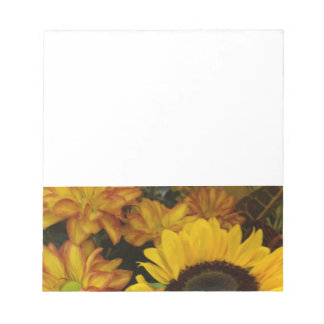 Sunflower Fall Flowers Note Pads