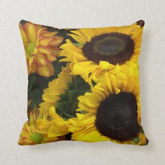 Sunflower Fall Flowers Throw Pillow