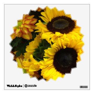 Sunflower Fall Flowers Wall Decal