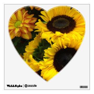 Sunflower Fall Flowers Wall Sticker