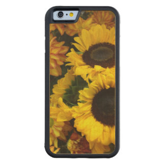 Sunflower Fall Flowers Carved® Maple iPhone 6 Bumper Case