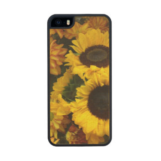 Sunflower Fall Flowers Carved® Maple iPhone 5 Slim Case