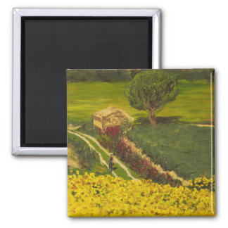 Sunflower Farm in Provence Magnet