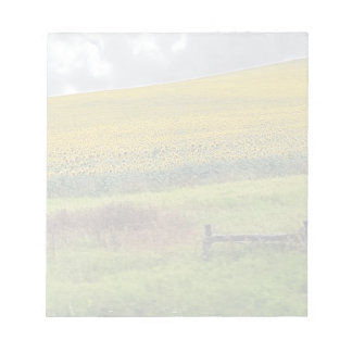 Sunflower Farm, wooden fence & phone pole Note Pad