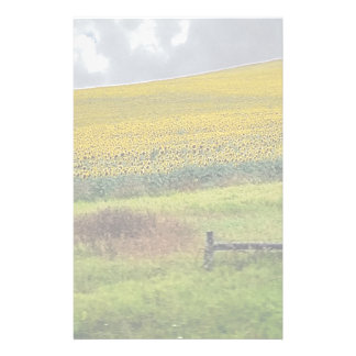 Sunflower Farm, wooden fence & phone pole Stationery
