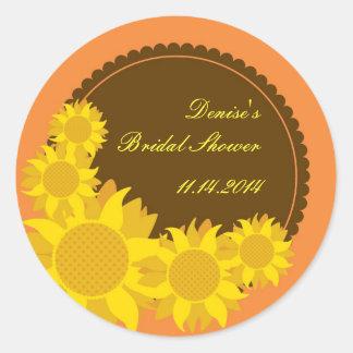 Sunflower Favor Seal Sticker