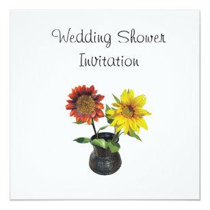 sunflower favors ideas wedding shower theme invitation