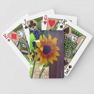 Sunflower Fencepost Deck of Cards