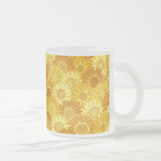 Sunflower Festival Frosted Glass Coffee Mug