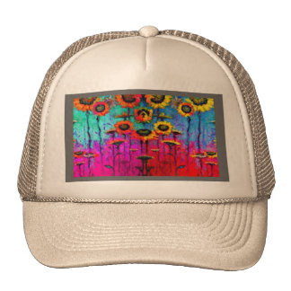Sunflower Field Art Gifts by Sharles Hats