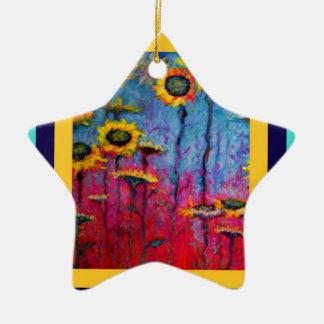 Sunflower Field by Sharles Ceramic Ornament