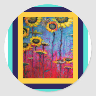 Sunflower Field by Sharles Stickers