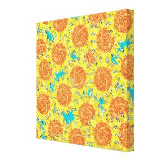 sunflower field canvas prints