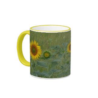 Sunflower Field Design Mugs