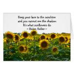 Sunflower Field Encouragement Card