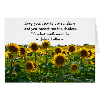 Sunflower Field Encouragement Card
