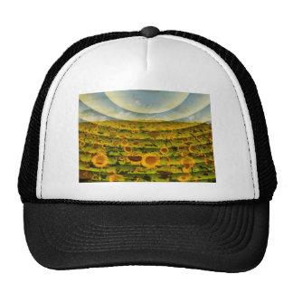 Sunflower Field Image Trucker Hats