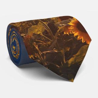 sunflower field neck tie