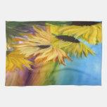 Sunflower Field Throw pillow from my artwork Hand Towels