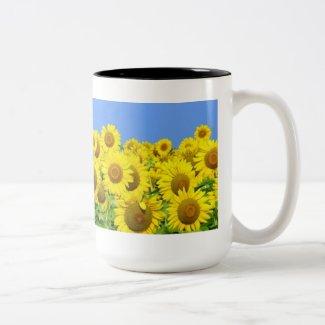 Sunflower Fields Mugs