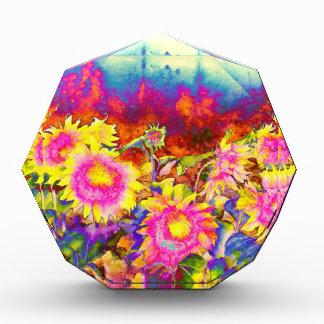 Sunflower Fields Acrylic Award