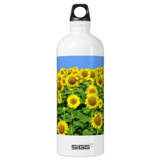 Sunflower Fields Aluminum Water Bottle