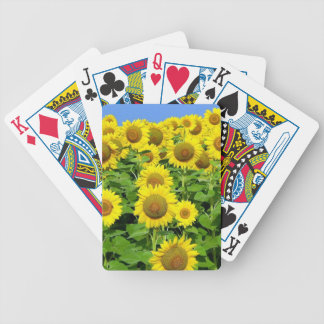 Sunflower Fields Bicycle Playing Cards