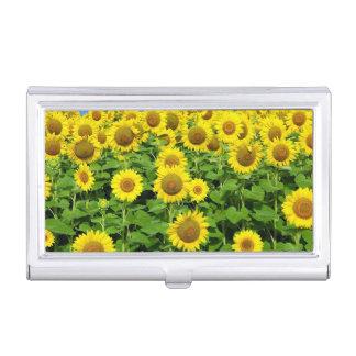 Sunflower Fields Business Card Holder