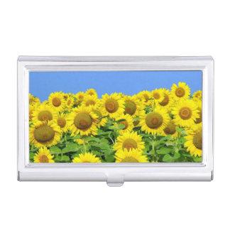 Sunflower Fields Business Card Holders