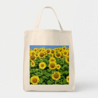 Sunflower Fields Canvas Bag