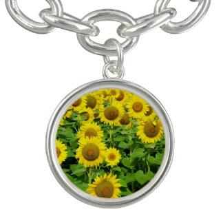 Sunflower Fields Charm Bracelet
