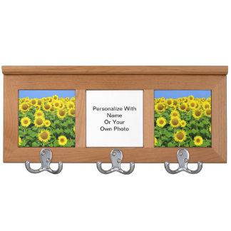 Sunflower Fields Coat Rack