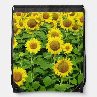 Sunflower Fields Drawstring Bag