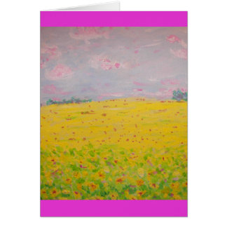 sunflower fields forever card