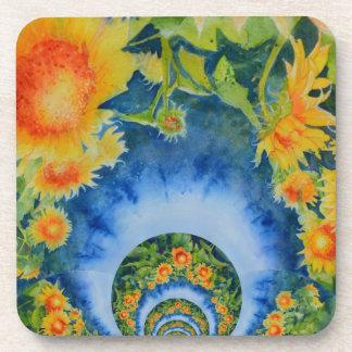 Sunflower Fields Forever Drink Coaster